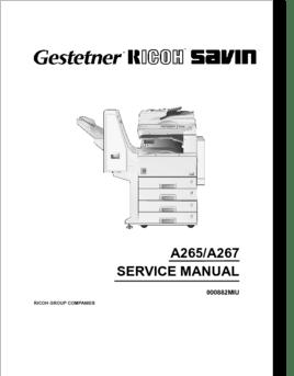 Diagrama/Manual Ricoh manual de servicio 220 270 aficio