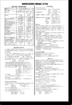 Diagrama/Manual Mercedes Benz Vito, Clase V2 y V3
