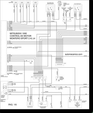 Diagrama/Manual Mitsubishi Montero Sport 1998 2.4L