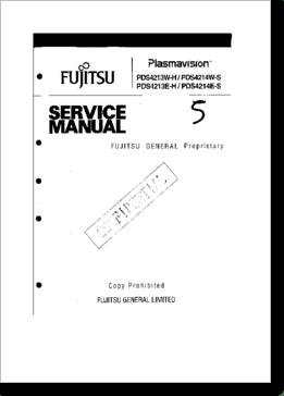 Diagrama/Manual Fujitsu pds 4213 eh