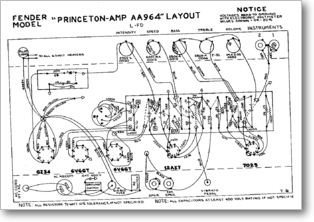 Diagrama/Manual FENDER Princeton AA964
