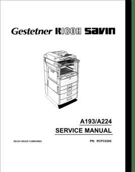 Diagrama/Manual savin 9920
