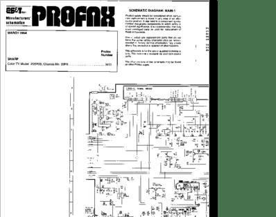 Diagrama/Manual SHARP 20SB55 Chasis 20R1
