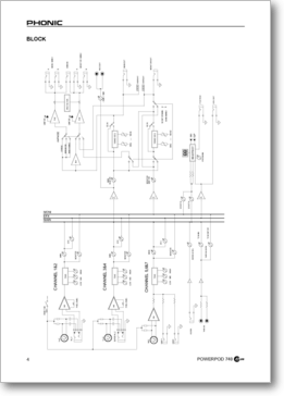 Diagrama/Manual Panasonic PHONIC POD740