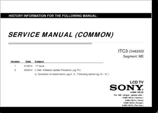 Diagrama/Manual KDL-32R430B CHASIS ITC3 segmento ME