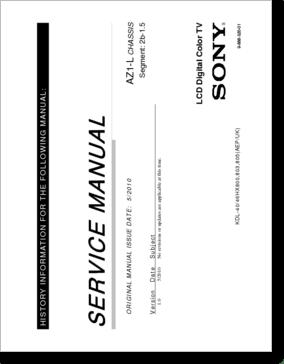 Diagrama/Manual SONY KDL55HX800 AZ1-L