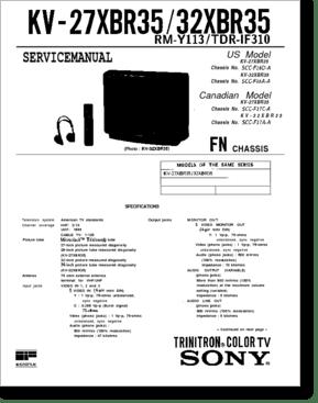 Diagrama/Manual SONY KV-27XBR351 FN
