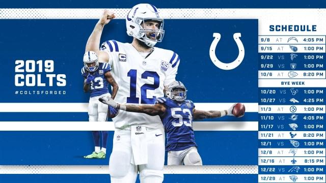 calendário Colts 2019