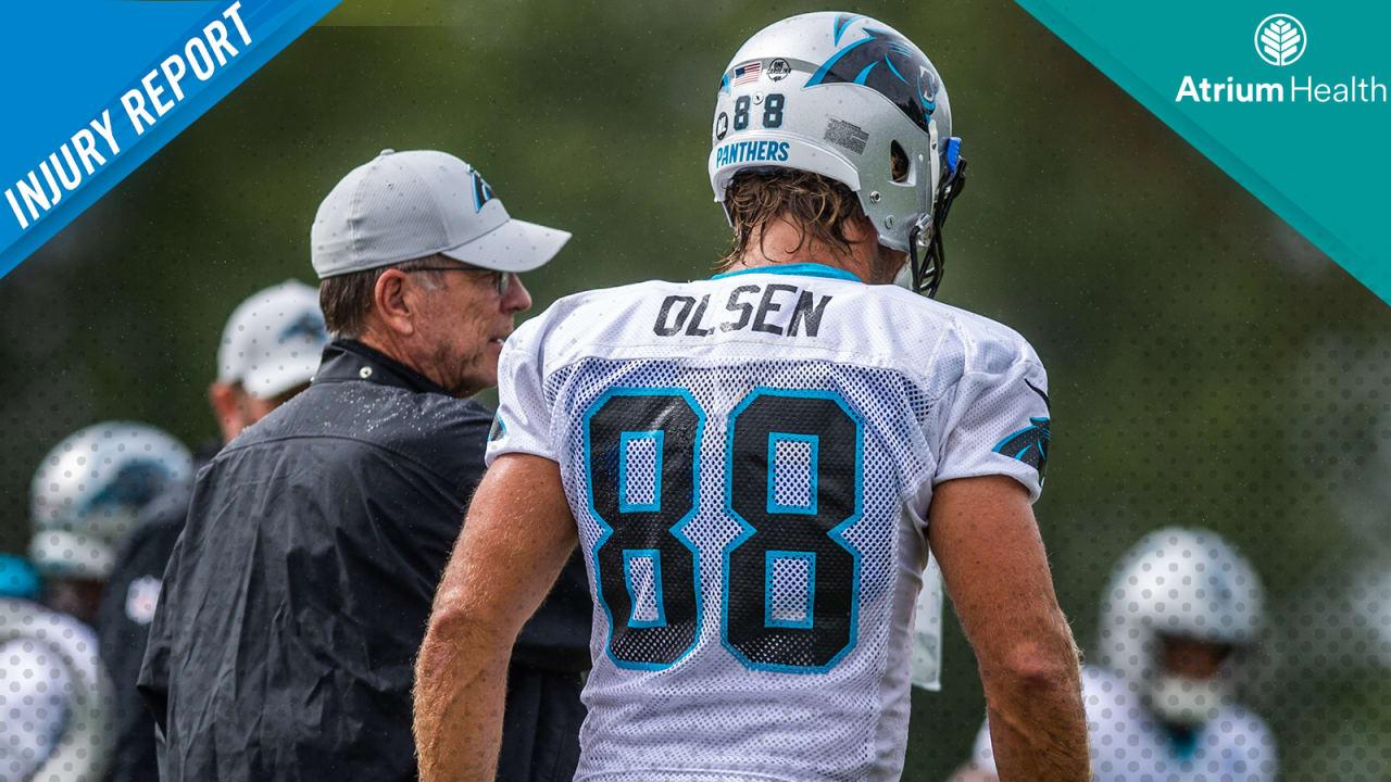 Injury Report Greg Olsen questionable for Washington