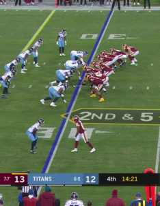 also adrian peterson darts through defenders for first down rh redskins