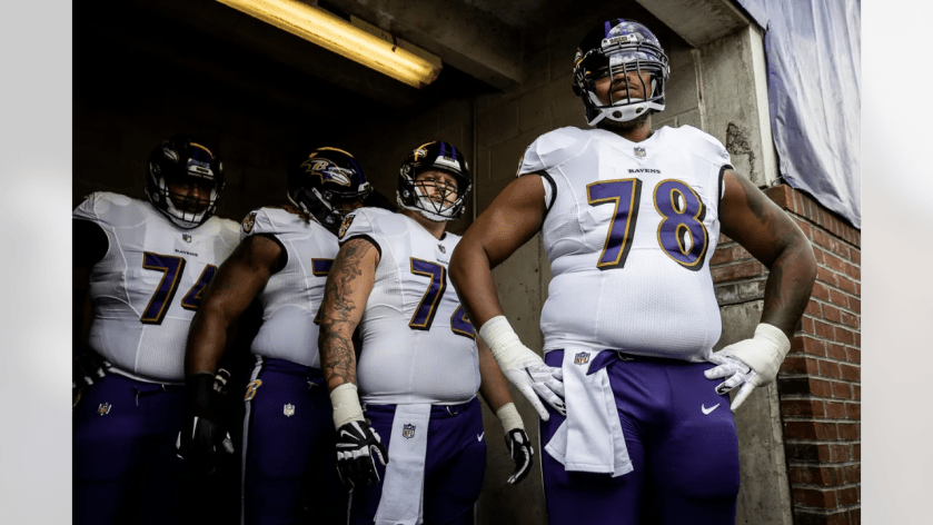 T Orlando Brown Jr. and offensive linemen