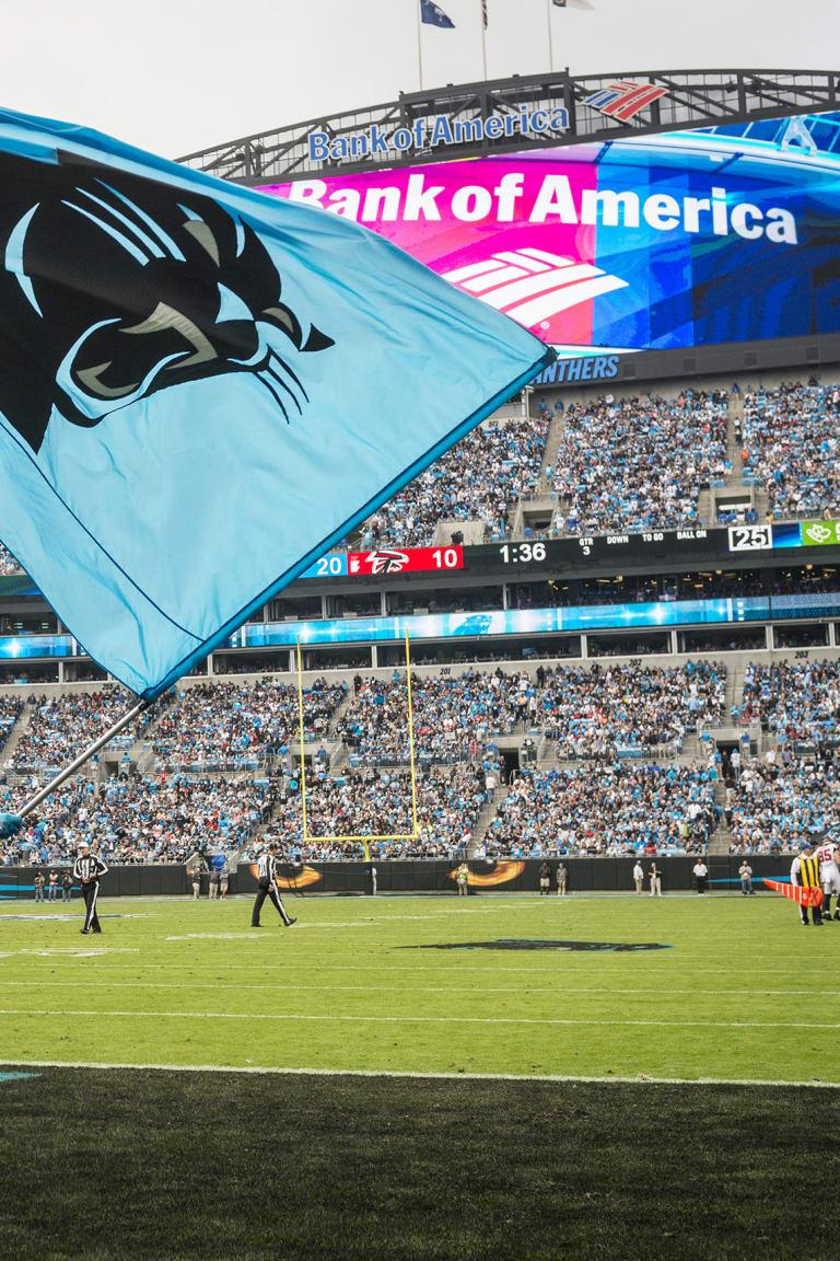 medium resolution of carolina panthers against the atlanta falcons at bank of american stadium on sunday november 5