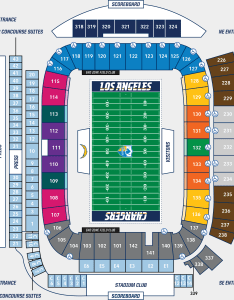 Seating chart also los angeles chargers rh