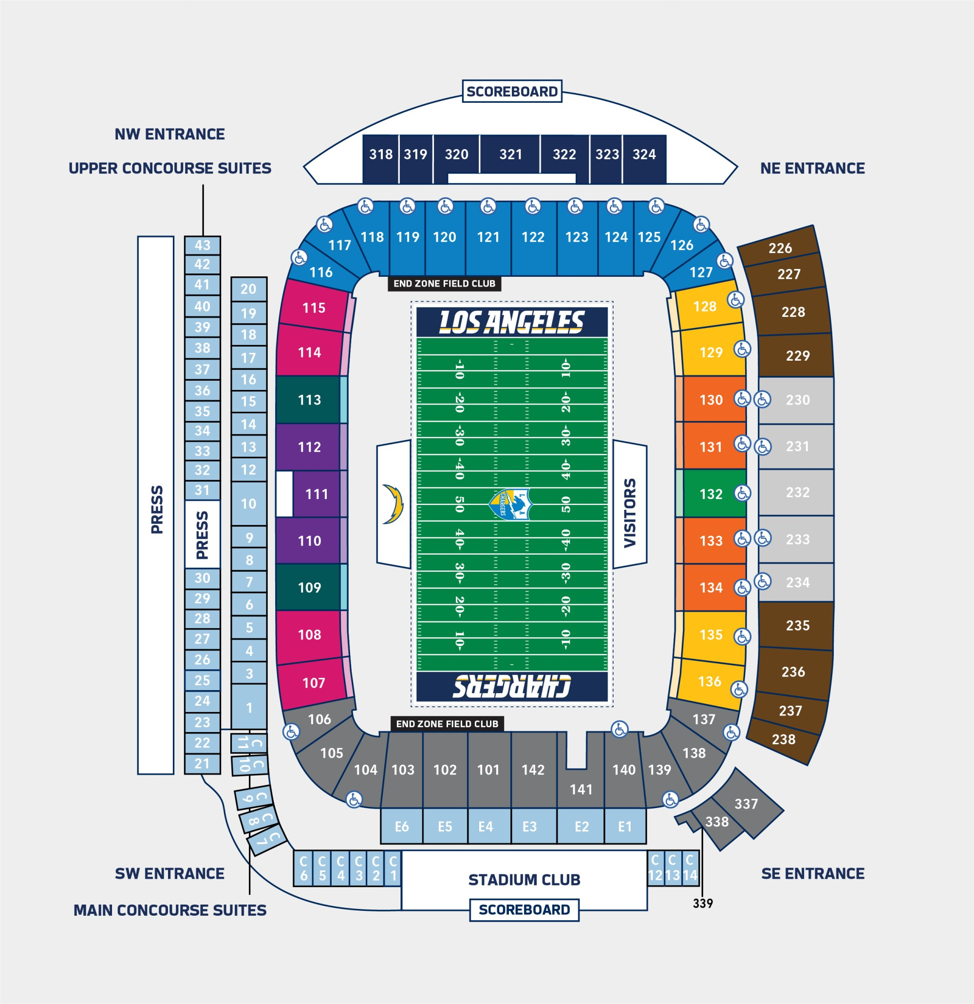 hight resolution of seating pricing