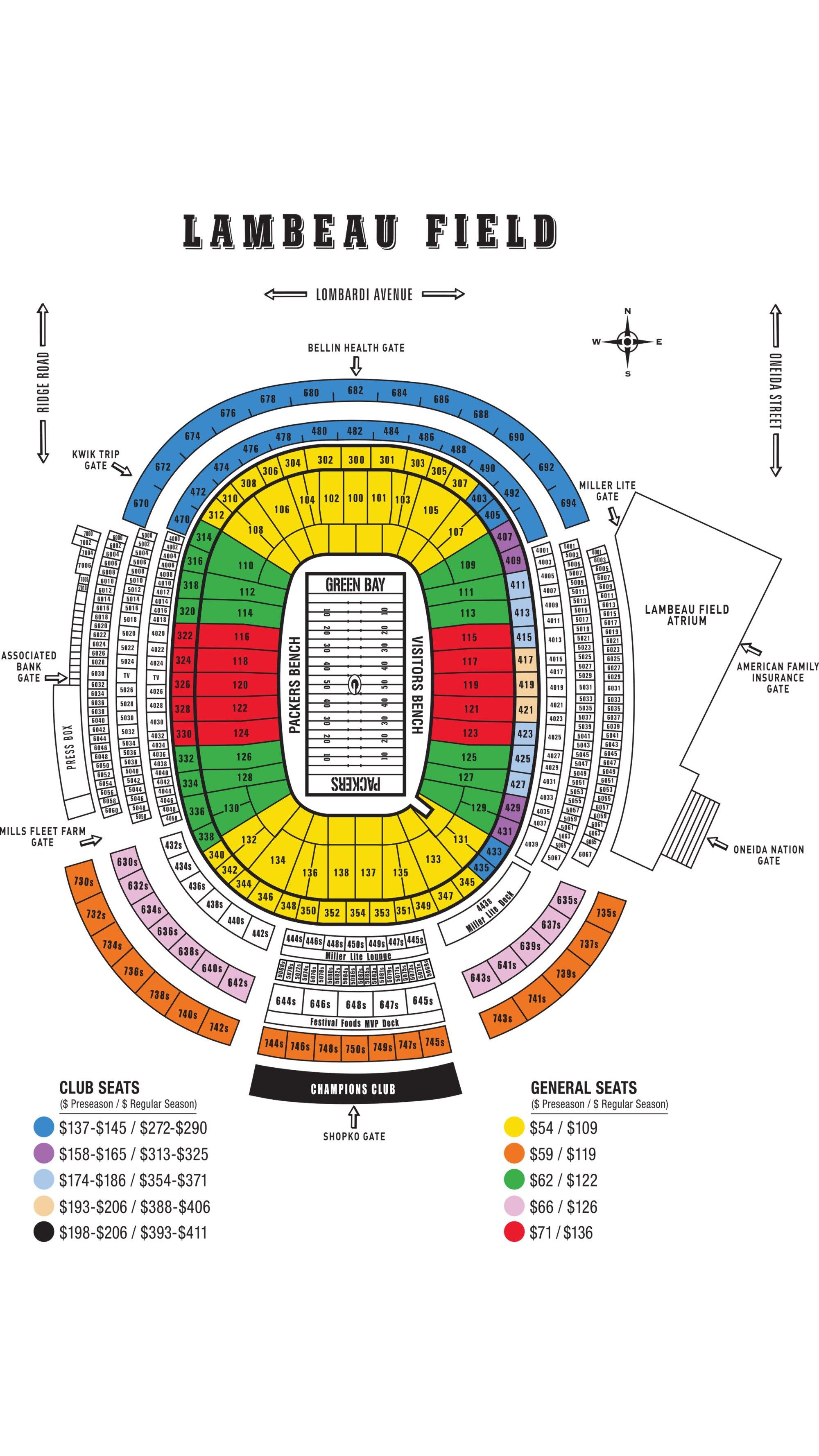 hight resolution of  tundra line national anthem 2018 lambeau field seating chart