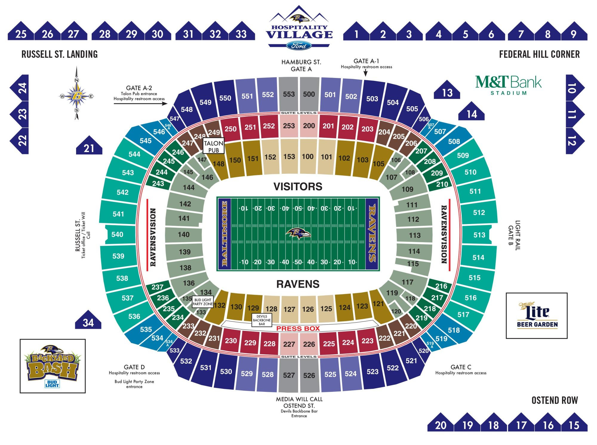 hight resolution of m t bank stadium diagrams