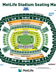 Metlife stadium seating chart also new york jets pricing rh newyorkjets