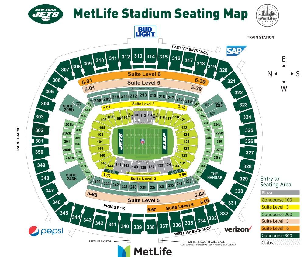 medium resolution of metlife stadium seating chart