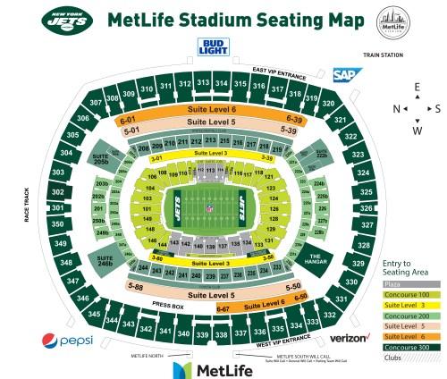 small resolution of metlife stadium seating chart