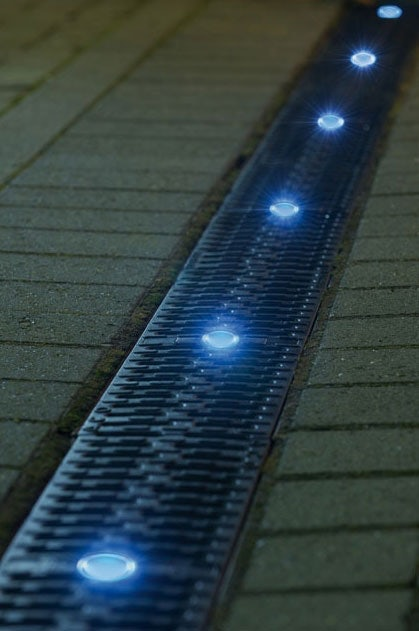 Aco Eyeleds Channel With 2 Eyeled Gratings And White Led Drainage Superstore