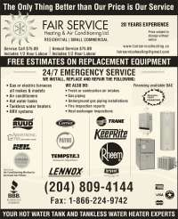 Fair Service Heating And Air Conditioning - Opening Hours ...