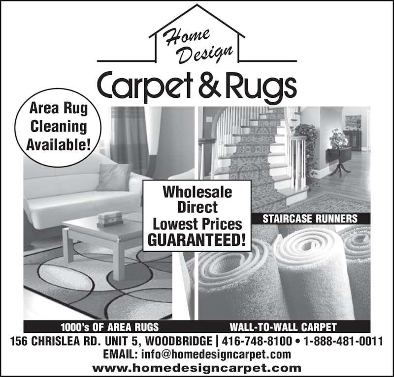 Home Design Carpet & Rugs 5 156 Chrislea Rd Woodbridge ON