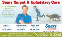 Sears Carpet & Upholstery Cleaning Services - Opening ...
