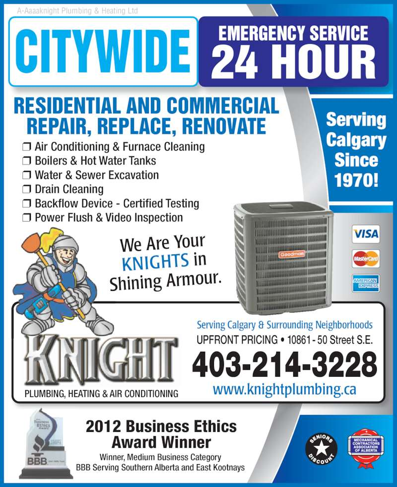 Knight Plumbing Heating and Air Conditioning  Calgary