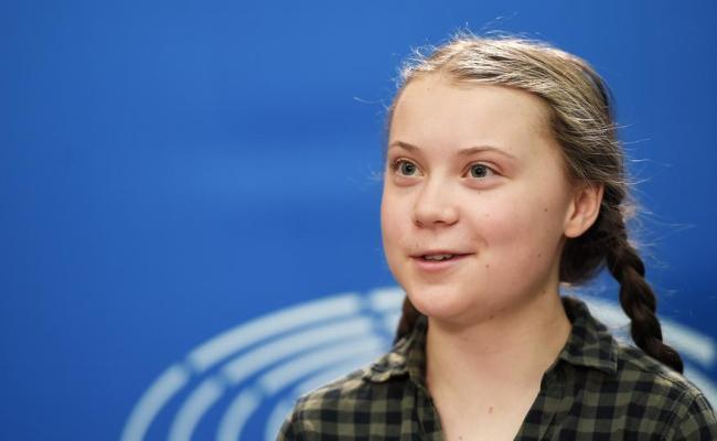 Greta Thunberg à La Marche Des Jeunes Pour La Planète à