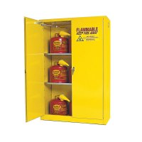 Flammable Storage Cabinet Self Closing Doors 45 Gallon ...