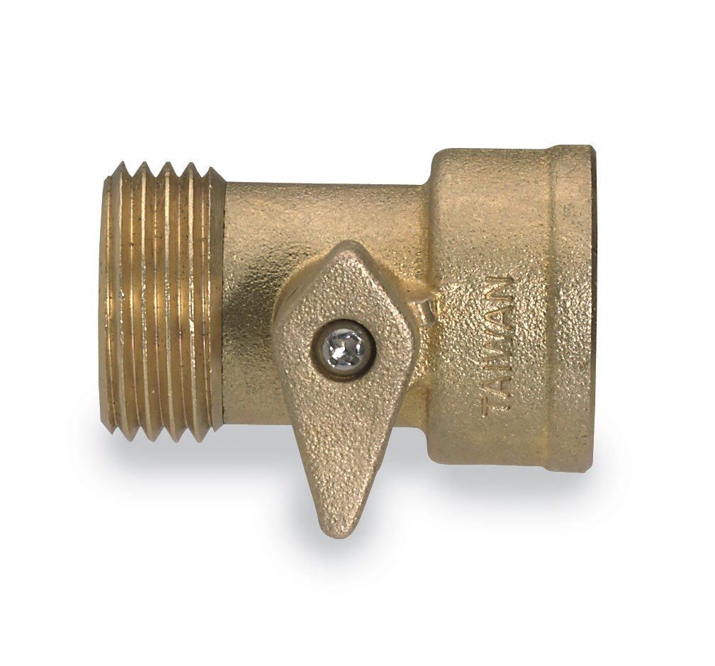 Male Female Garden hose adapter with shutoff valve from