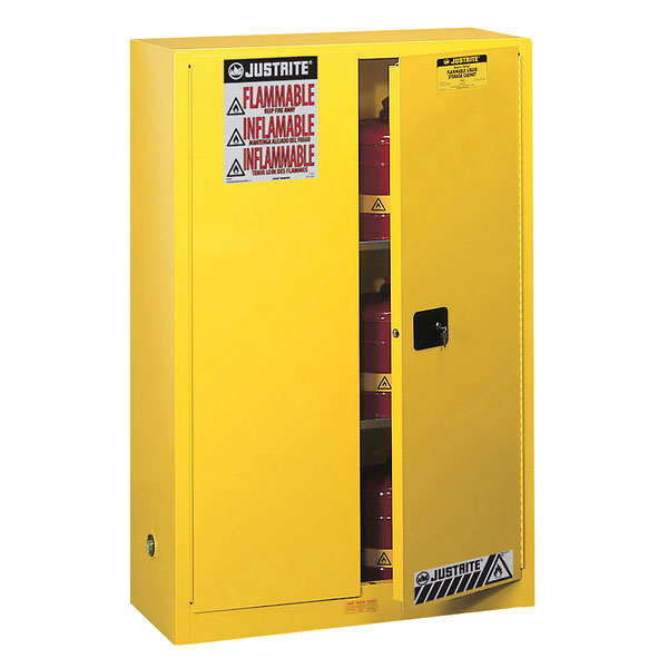 Justrite Flammable Storage Safety Cabinet 90 gallons self