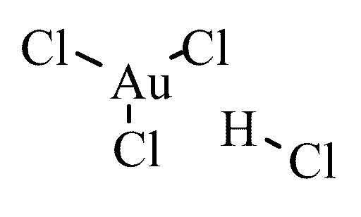 Hydrogen tetrachloroaurate III trihydrate reagent ACS 1g