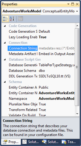 Entity Framework: Unable to load the specified metadata