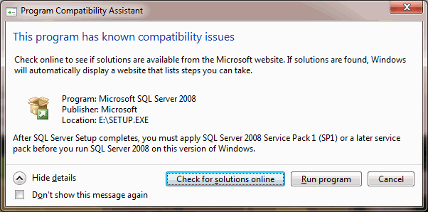 sql-server-2008-compatibility-issues