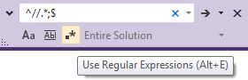 Visual Studio 2012 Search Bar
