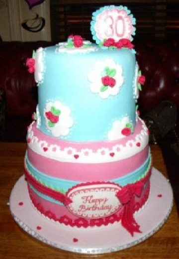 2-Coming-Up-Roses-280x404 Color Inspiration in Cake: A Rainbow Array of Birthday Confections Color