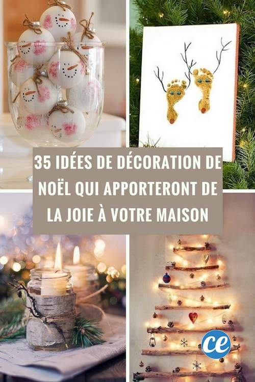 35 idees de decoration pour noel a faire facilement
