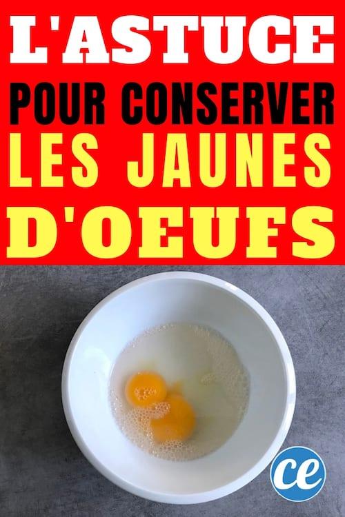 Que Faire Avec Les Jaunes D'oeufs Qui Restent : faire, jaunes, d'oeufs, restent, Conservation, Jaunes, D'Oeufs, Conserver.