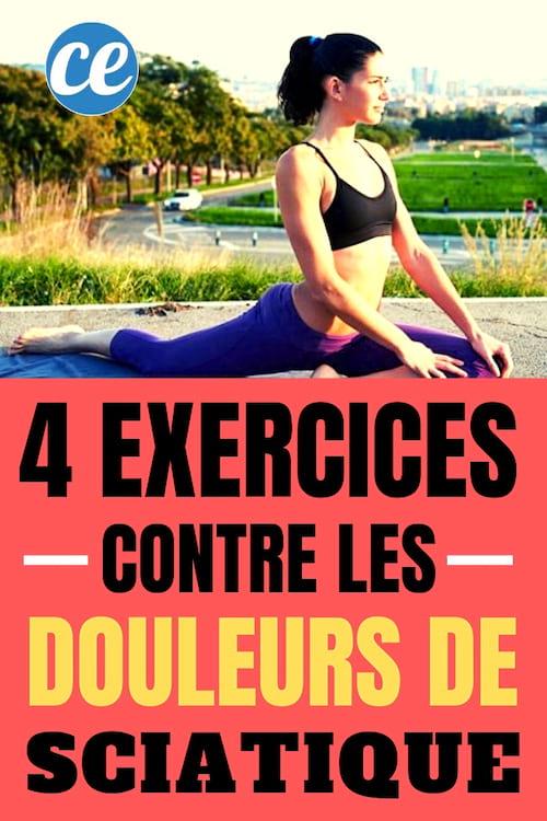 7 Exercices Pour Dire Adieu Au Mal De Dos : exercices, adieu, Exercices, Faciles, Contre, Douleurs, Sciatique.