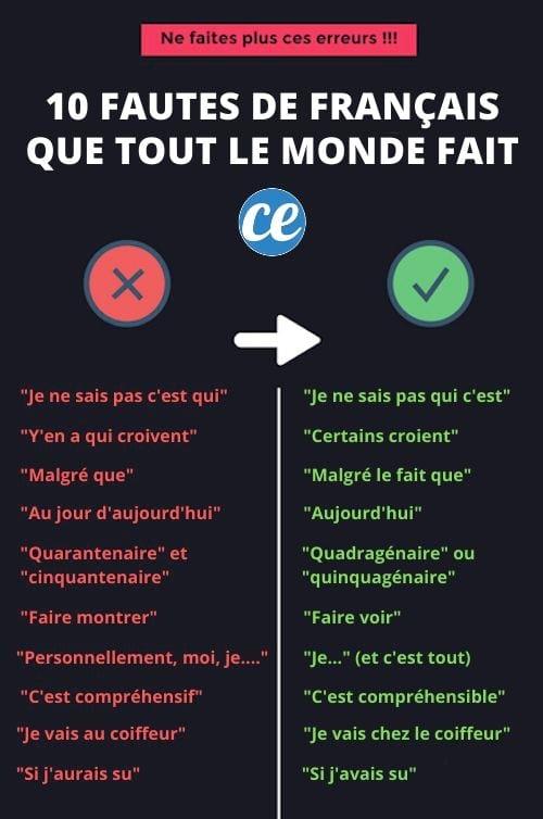 Je Ne Sais Plus Quoi Faire De Ma Vie : faire, Fautes, Français, Monde, Arrachent, Oreilles).