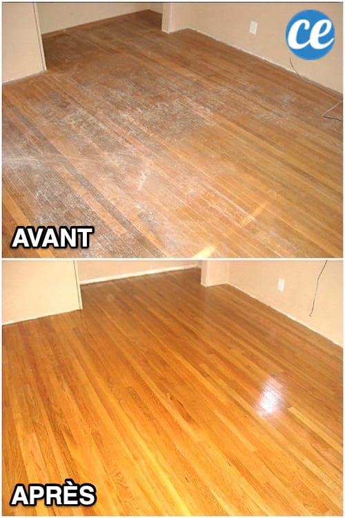 votre parquet est sale le nettoyant maison pour le faire briller sans traces