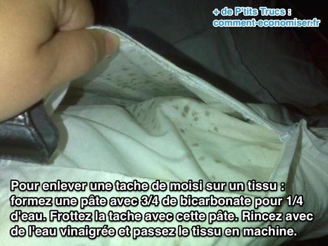LAstuce Pour Enlever une Tache de Moisissure sur un Tissu