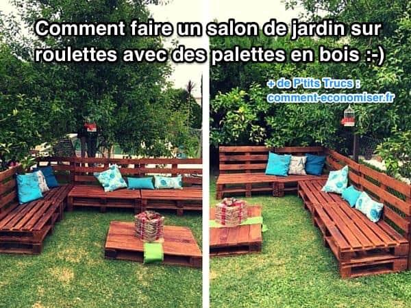 Comment Fabriquer Salon De Jardin Avec Des Palettes