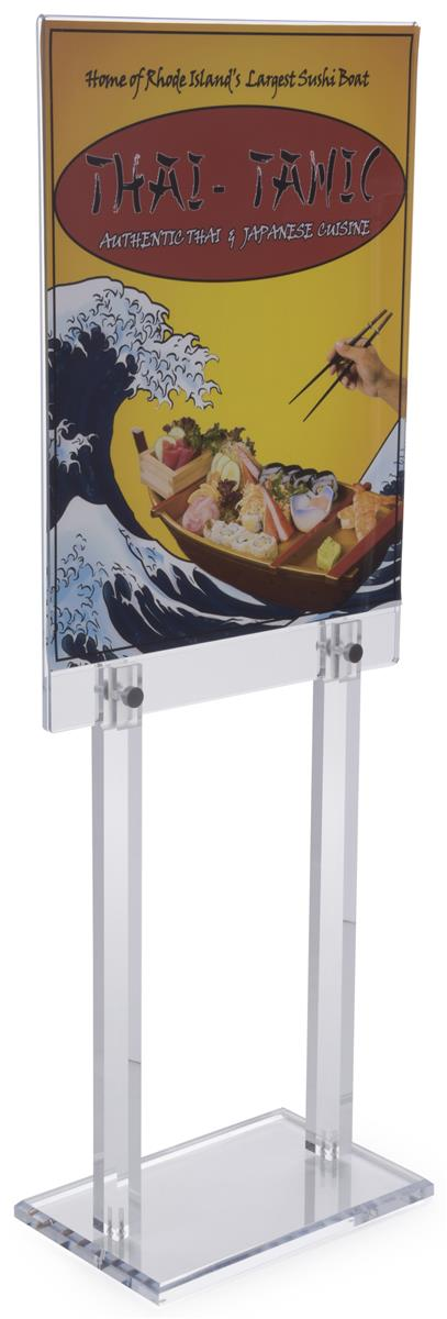 workshop series 22 x 28 poster stand for floor double sided 56 tall clear