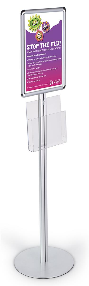 11 x 17 sign stand snap open acrylic pocket for 8 5x11 magazines silver