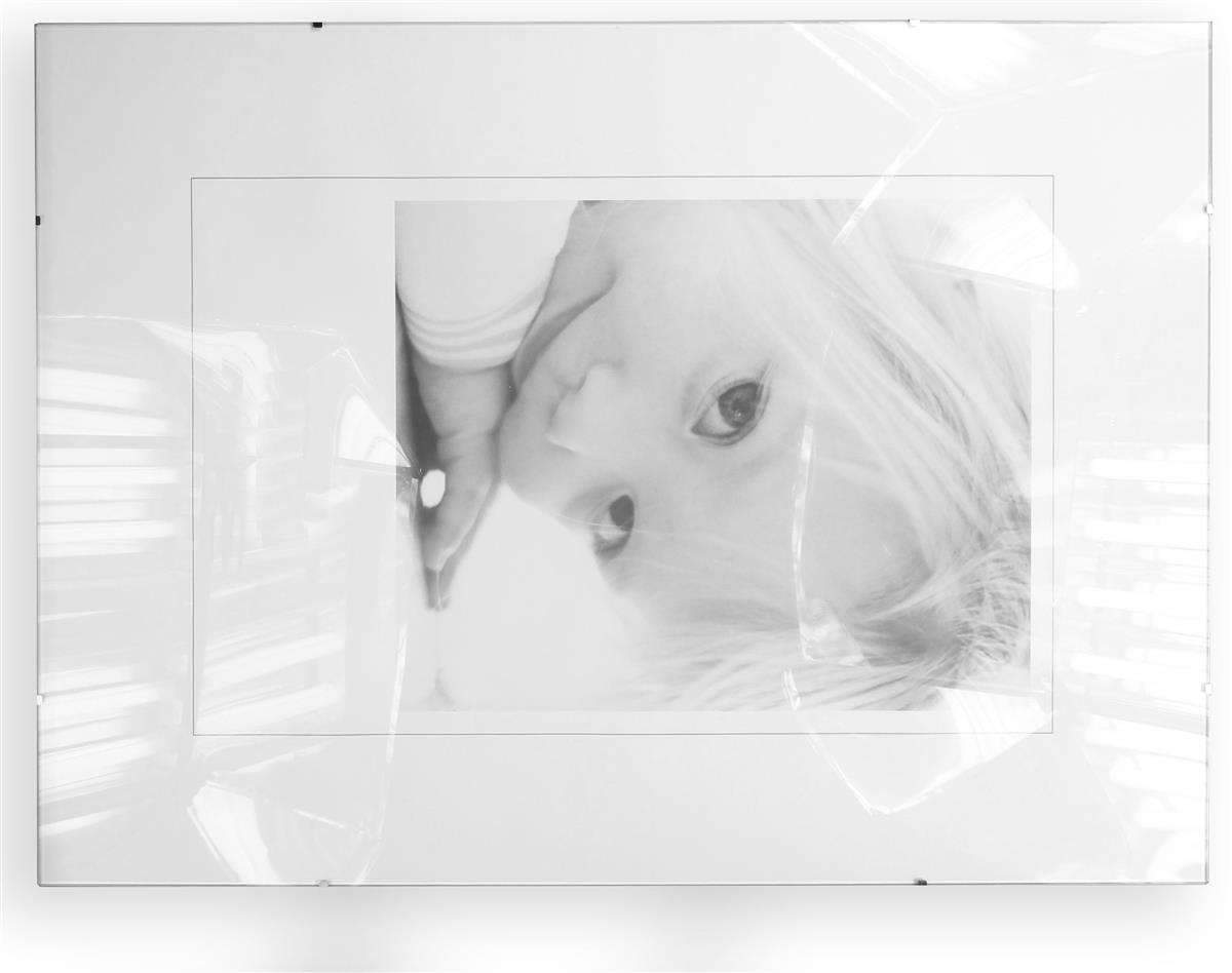 18 x 24 glass clip poster frame for wall 8 side clips clear