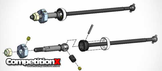 MIP C-CVD Keyed Axle Kit for Kyosho Ultima SC Trucks