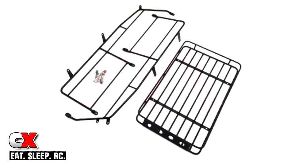 The Toyz Metal Luggage Cage Roof Rack for the Traxxas TRX