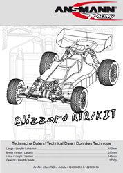 Ansmann Racing Blizzard Brushless Manual